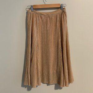 Maeve Ambra Rose Sparkle Gold Skirt